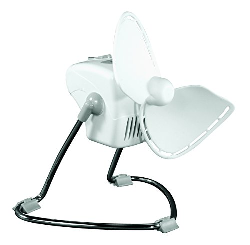 Caframo Chinook. 2-Speed Desk Fan. Cage Free, Easy to Clean. White