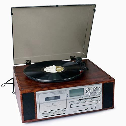 TONGZHENGTAI Stijlvolle Elegante Ornamenten Vinyl Record Speler Moderne Woonkamer Europese stijl Vintage Retro Gramophone Bluetooth Stereo CD Radio Cassette
