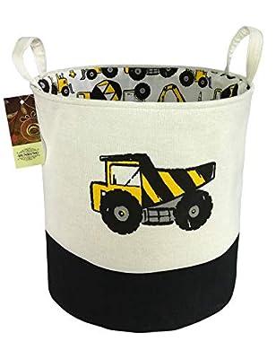 HUNRUNG Large Laundry Hamper,Cartoon Organizer Bin for Baby Nursery,Toys,Laundry,Baby Clothing,Gift Baskets(Engineering)