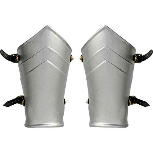 Armour Knight Errant Brazaletes medievales para brazos, recreación de alerón