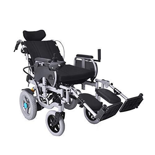A&DW Elektrischer Rollstuhl, vollständig liegend, liegend, fahrend Medizinischer Rollstuhl, Motion Healthcare Fold, Abnehmbarer Lithiumbatterie-Mobilitätsstuhl