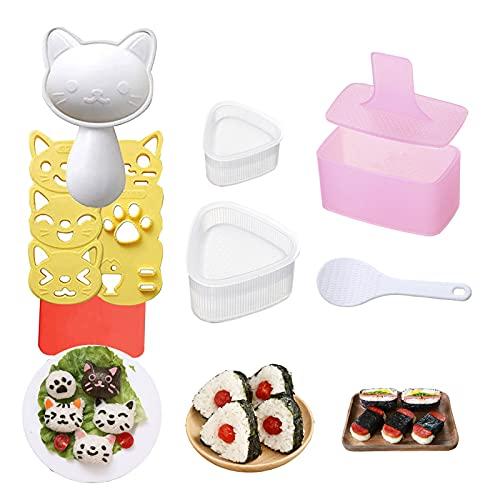 Rice Ball Mold, 3 Pack Onigiri Mold, Cute Cat Kitten Sushi Mold for...