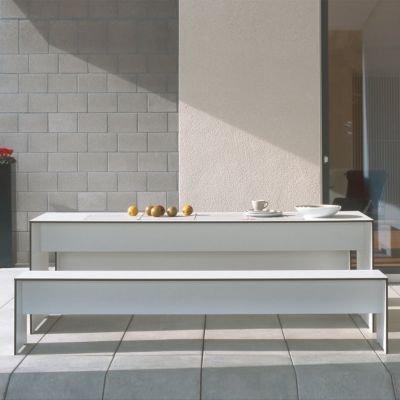 Riva Bank 176 cm ohne Lehne – weiß - 6