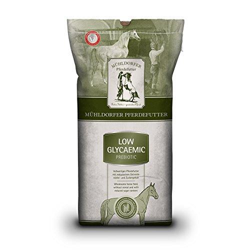 Mühldorfer Low Glycaemic prebiotic, 15 kg, vollwertiges Pferdefutter, ohne Getreide und Melasse, empfohlen bei EMS, Cushing, Hufrehe etc.