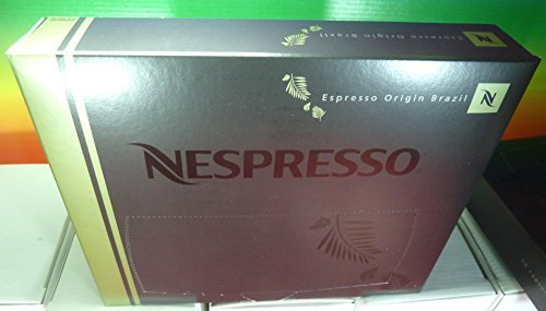 Nespresso Espresso Origin Brazil PRO COFFEE 50 Capsules (for Gemini , Zenius , Aguila Coffee Machines) New by Nespresso