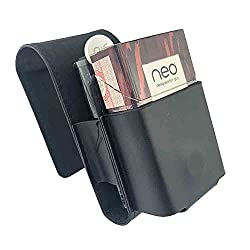 GC ® original Case kompatibel mit glo Tabak Heater Tabakerhitzer u. neo STICKS o. Hyper-Heater glo Schutzhülle Etui Folio Tray Starterset. TOP ZUBEHÖR (black)