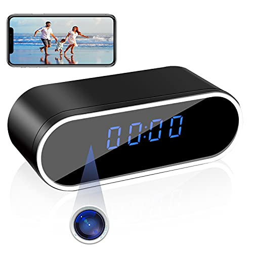 Hidden Camera Spy Clock ZXWDDP 1080P Video Recorder Wireless WiFi for Indoor Home Security Monitor with Night Vision Motion Detection