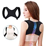 Slimerence Updated Posture Corrector For Men and Women, Upper Back Posture Brace Adjustable Straightener for Clavicle Neck Shoulder Support and Providing Pain Relief