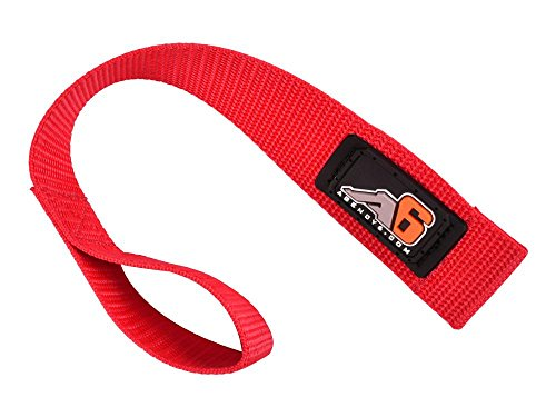 Agency 6 Winch Hook Pull Strap - RED - 1.5 INCH Wide - Heavy Duty - Made in The U.S.A.