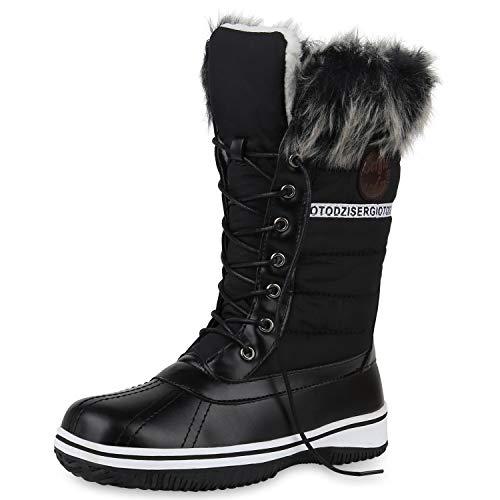 SCARPE VITA Warm Gefütterte Damen Stiefeletten Winterboots Stiefel Schuhe 172788 Schwarz 41