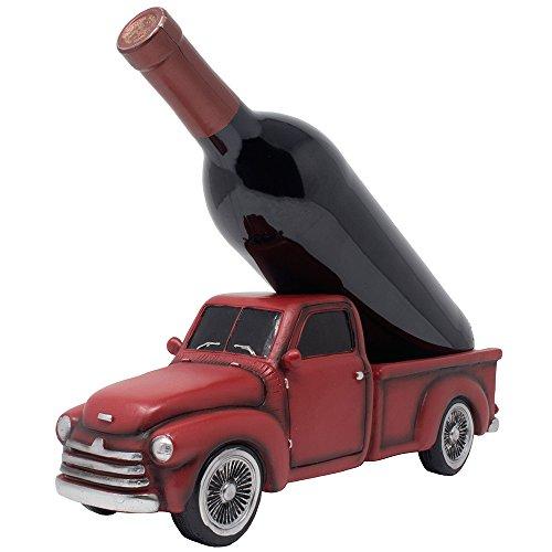 Vintage Pickup Truck Weinflaschenhalter Statue oder Deko-Weinregal im Antik-Look für altmodische Bauernhofküche Deko Skulpturen und rustikale Bar Dekoration oder klassische Geschenke für Bauern