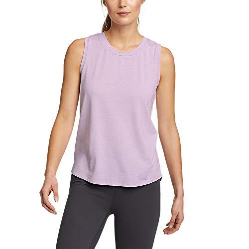Eddie Bauer Women's Willpower Mesh-Inset Tank Top, Dusty Lavender Regular M