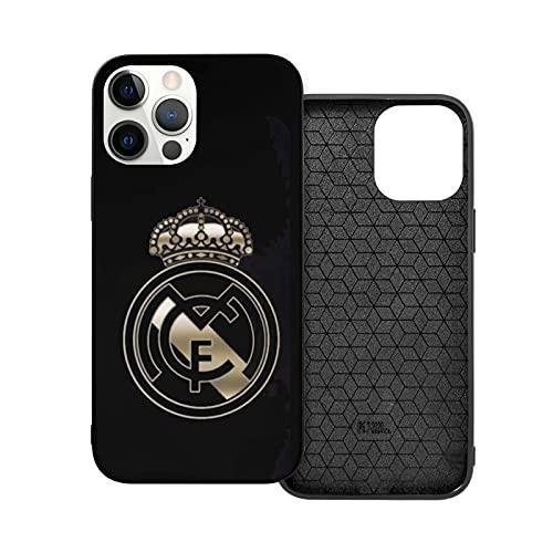 Compatible con iPhone 12/11 Pro MAX 12 Mini SE X/XS MAX XR 8 7 6 6s Plus Funda Chocs Real Madrid Escudo Black Cajas del Teléfono Cover