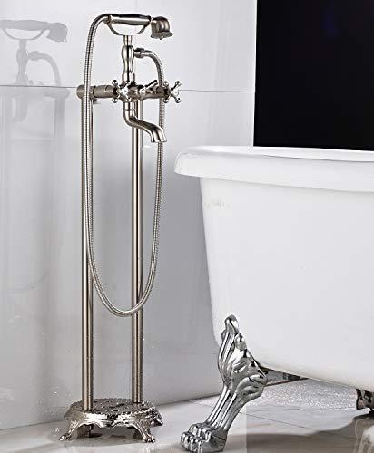 Senlesen Free Standing Bathtub with Handheld Shower