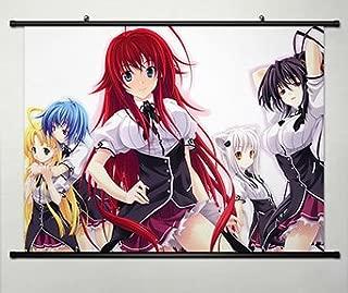 Wall Scroll Poster Fabric Painting For Anime High School DxD New Rias Gremory & Himejima Akeno & Asia Argento & Toujou Koneko & Xenovia 071