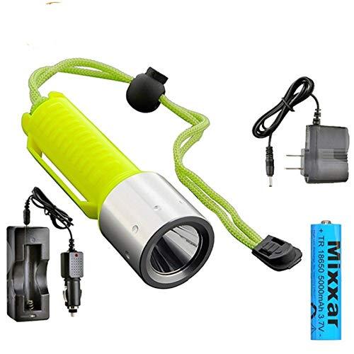 Taschenlampe Dropshipping LED-Tauchens-Taschenlampe Q5 2000LM Laterne-Lampe Wiederaufladbare 18650 Tauchen Scuba Taschenlampen-Licht Tragbar (Emitting Color : C)