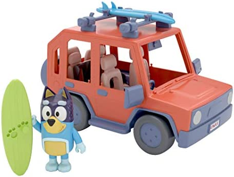 Bluey 4WD Family Vehicle with 1 Figure and 2 Surfboards Customizable Car Adventure Time for product image