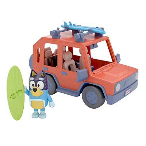Bluey, 4WD Family Vehicle, with 1 Figure and 2 Surfboards | Customizable Car - Adventure Time | for Ages 3+