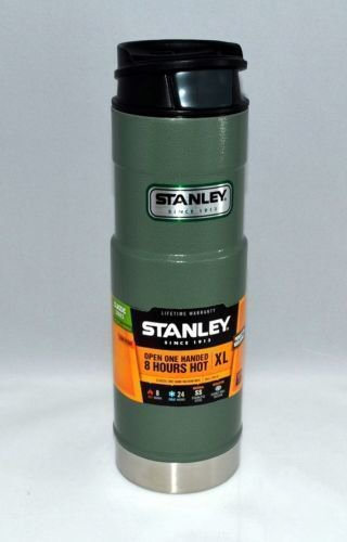 Travel Mugs Green Stanley Classic One Hand Mug XL (20 Ounce) ~ Stainless ~ Navy Or Green