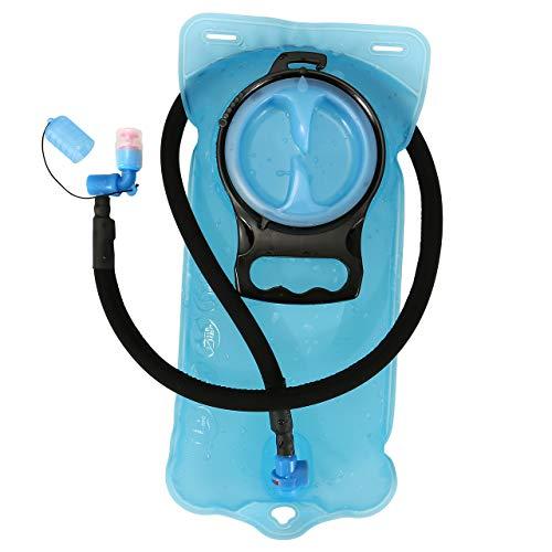 ACBungji Bolsa de hidratación de 2 L, con válvula de mordida sin BPA, antibacteriana y a prueba de fugas para cualquier mochila de hidratación para senderismo, camping, ciclismo, color azul