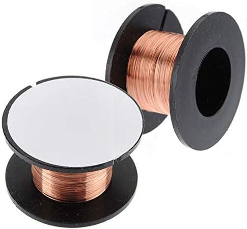 PYuLi-alambre de cobre 5pcs 0.1mm Soldadura de cobre soldadura PPA Reparación Esmaltada Reel Cable Línea Mosca 0.1mm Cable de soldadura de cobre Accesorios ampliamente utilizados ( Diameter : 5pcs )