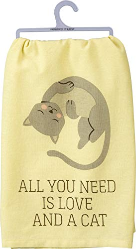 Primitives by Kathy Dish Towel - All You Need Is Love And A Cat