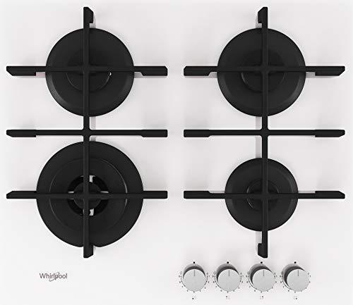 Piano Cottura da 60 cm a Gas, N° 4 Fuochi, Bianco