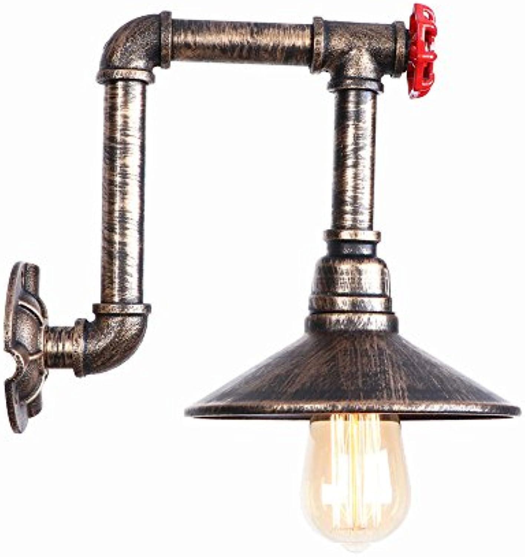 SOLUCKY Vintage Wall Light Industrial Lighting Metall Rost Sicher Indoor Home Retro Lichter Halterung Mit Ladekabel l Gerieben Bronze,C