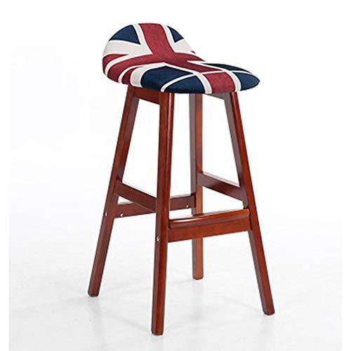 Silla de bar de estilo moderno, silla de comedor, restaurante y silla de jardín, silla de cojín taburetes de bar de cocina, taburete de bar con patas de madera moderno Large 15