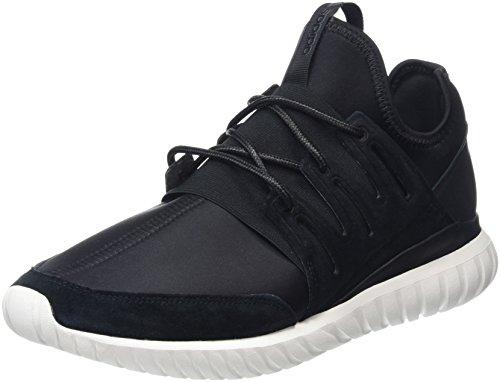 adidas Unisex-Erwachsene Tubular Radial Hohe Sneakers, Schwarz (Core Black/Core Black/Crystal White), 42 EU