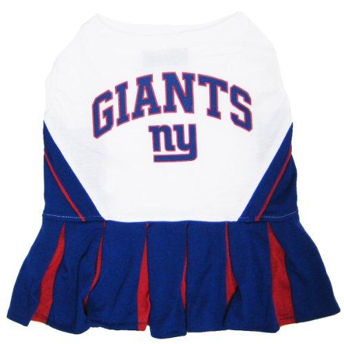 Pets First NFL New York Giants Dog Cheerleader Dress, Medium