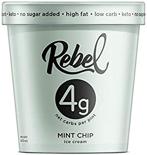 Rebel Ice Cream - Low Carb, Keto - Mint Chip (8 Count)