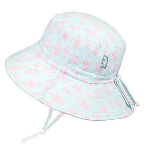 Jan & Jul Baby Newborn Sonnen-Mütze UV Schutz 50 für Mädchen Jungen Schnelltrocknend Bade-Hut Kordelzug Größenverstellbar (S: 0-6 Monate, Koralle)