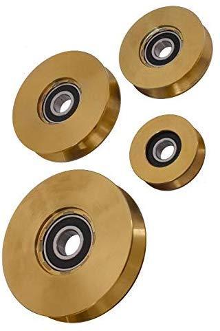 rueda canal U 16 mm puerta correderas en acero cincado Polea con soporte diametro 80 mm