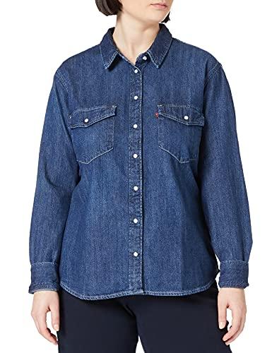 Levi's Essential Western Camisa, Air Space, M para Mujer