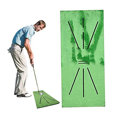 Alfombrilla de Golf,para la práctica de bateo de detección de Swing, Juego de Ayuda para Entrenamiento de práctica de Mini Golf, Puede analizar y Corregir su trayectoria de Swing.