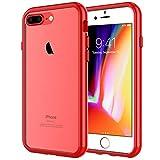 JETech Cover Compatibile iPhone 8 Plus / 7 Plus, Custodia con Paraurti Assorbimento degli Urti e Anti-Graffio, Rosso