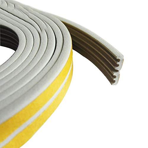 1 ST 5M D type afdichtstrip Zelfklevende afdichtstrips Schuimtap Excluder Zelfklevende raamdeurafdichting Strip Hardware-instrumenten, grijze E-strips, 5M