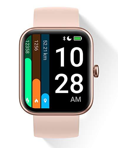 """DOOGEE CS2 Pro Smartwatch, 1.69"""" Reloj Inteligente con Alexa Integrada para Hombre Mujer, Oxígeno En Sangre, Pulsómetro, Monitor de Sueño, Reloj Deportivo Impermeable 5ATM con 14 Modos Deporte, Rosa"""