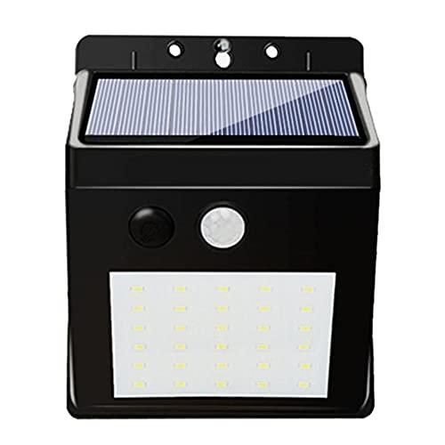 Tuimiyisou Las Luces LED Solar al Aire Libre Solar del Sensor de Movimiento de Seguridad de iluminación de Pared Resistente al Agua Enciende Las Luces solares para el jardín del Patio de 30 LED