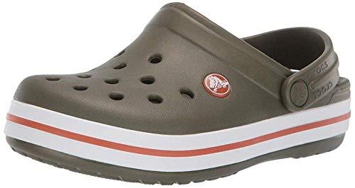 Crocs Kids' Crocband Clog, army green/burnt sienna, 12 M US Little Kid