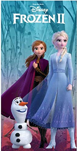 Telo Mare Disney Frozen II Asciugamano da spiaggia in microfibra CM. 140X70 asciugatura rapida, ultra morbido (Frozen)