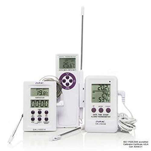 h-b Durac b60900–0400 gekalibreerde elektronische thermometer met roestvrijstalen sonde; -50/200 C/230 C (-58/392 F), 63 x 97 mm