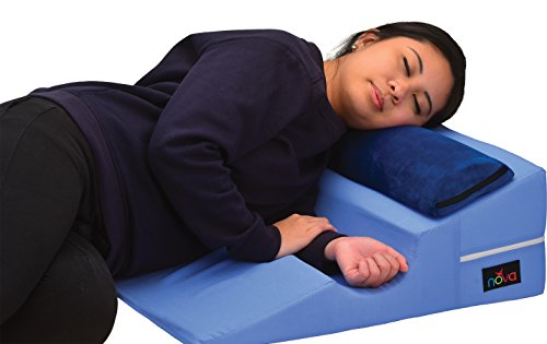NOVA Bed Wedge for Back & Side Sleepers with Half Roll Pillow...