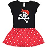inktastic Pirate Skull and Toddler Dress 3T Black & Red with Polka Dots 27525