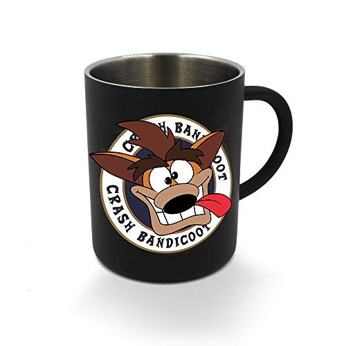 Koch Media Crash Bandicoot Taza de Acero Negra