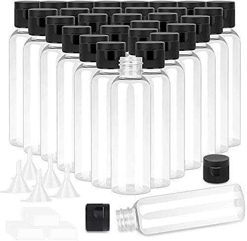 Nealan Botella de viaje para loción líquida de plástico, transparente, botella vacía, pequeña para viaje para champú líquido (30)