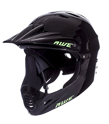 AWE® BMX Full Face Helm schwarz, Größe M 54–58 cm - 6
