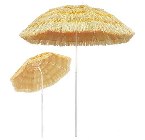 Ombrellone parasole rotondo stile Hawai per giardino, balcone, piscina e cortile, 180 cm