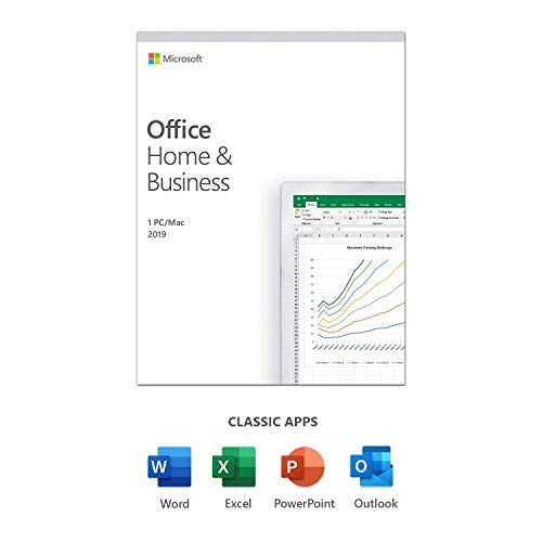 Microsoft Office Home & Business 2019 | one-time purchase | 1 PC (Windows 10) or Mac | home&/or commercial use | box|Home & Business 2019|1|One time|PC|Disc